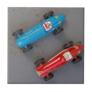 Azulejo Dos coches del vintage del juguete