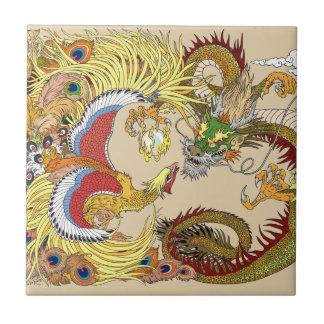 Azulejo Dragón y Phoenix chinos