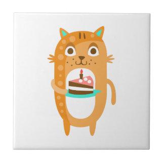 Azulejo El gato con el fiesta atribuye el Sti enrrollado