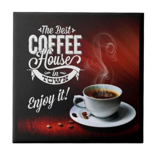 Azulejo El mejor café de la ciudad