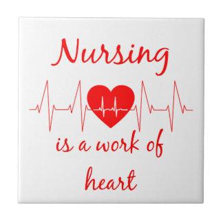Azulejo El oficio de enfermera es un trabajo de la cita