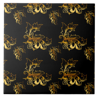 Azulejo El oro prospera en negro