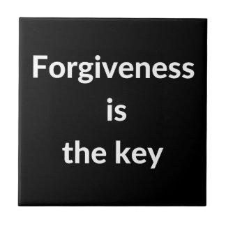 Azulejo El perdón es la llave