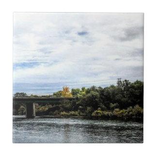 Azulejo El río americano