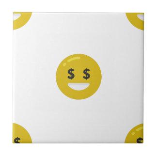 Azulejo emoji del ojo del dinero