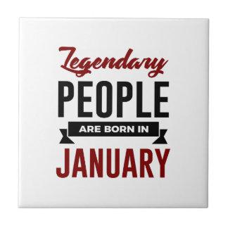 Azulejo En enero cumpleaños llevado legendario de los