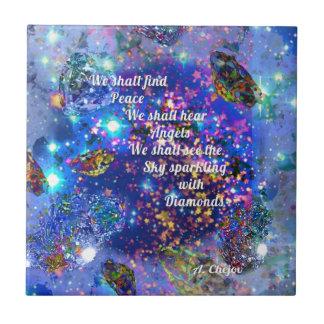 Azulejo Encontraremos paz y oiremos los ángeles