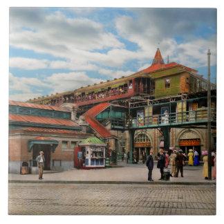 Azulejo Estación de tren - casa atlántica 1910 del control