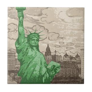Azulejo Estatua de la libertad clásica