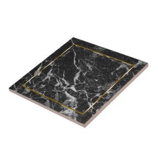 Azulejo Falsa piedra de mármol negra y gris