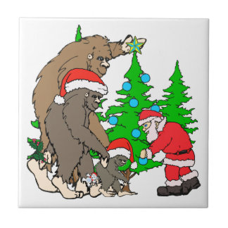 Azulejo Familia y Santa de Bigfoot