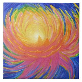 Azulejo Flor de Lotus abstracta