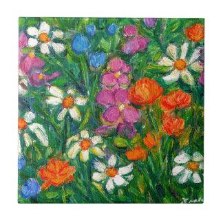 Azulejo Flores brillantes
