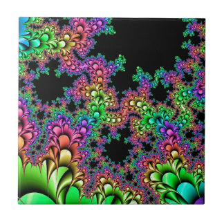 Azulejo Fractal loco del arco iris