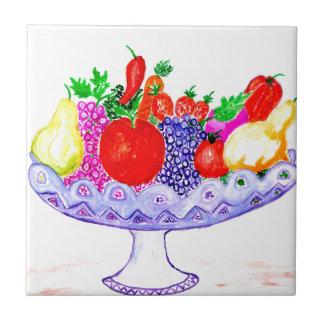Azulejo Fruta en arte del florero