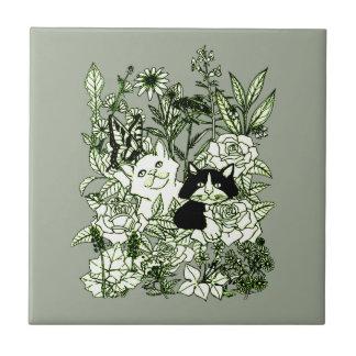 Azulejo Gatitos en los Wildflowers