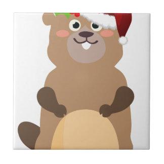 Azulejo Gopher del navidad de Papá Noel