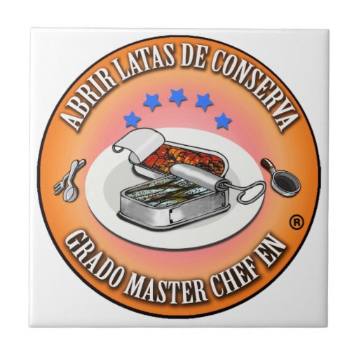 Azulejo Grado Master Chef Abrir Latas de Conserva