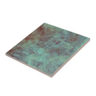 Azulejo Grunge texturizado cobre de la turquesa