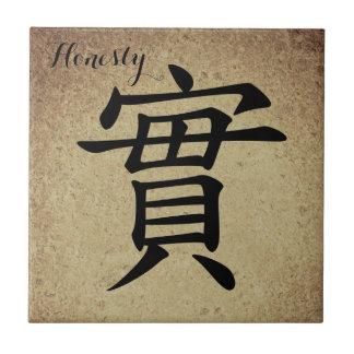 Azulejo Honradez del carácter chino
