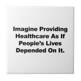 Azulejo Imagínese las vidas de la gente de la atención
