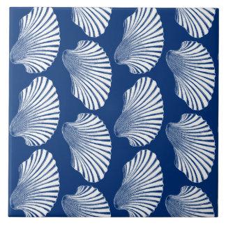Azulejo Impresión, azules marinos y blanco de bloque de