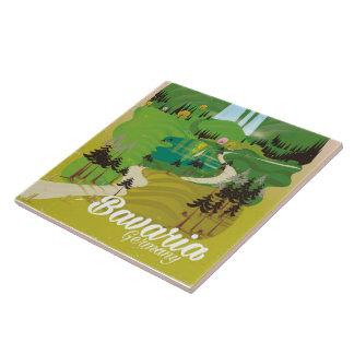 Azulejo Impresión del viaje del paisaje de Alemania de
