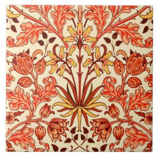 Azulejo Impresión, naranja y moho del jacinto de William