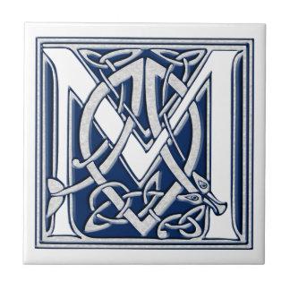 Azulejo Inicial céltica M del dragón