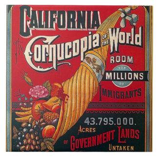 Azulejo Inmigrantes y oportunidad de California del
