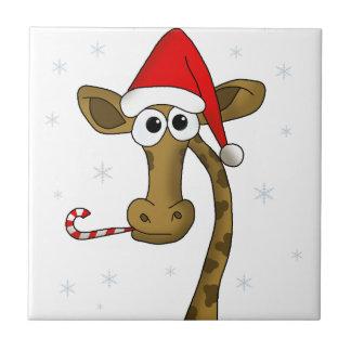 Azulejo Jirafa del navidad