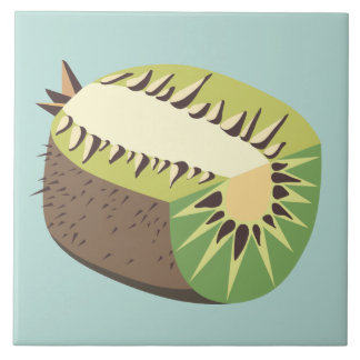 Azulejo Kiwi fruit illustration