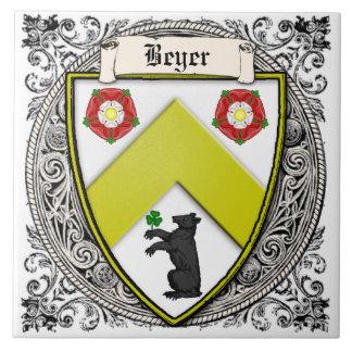 Azulejo La familia de Beyer (Suiza/Sajonia) arma