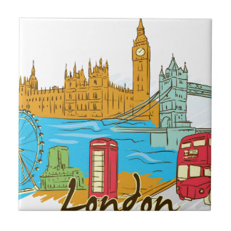 Azulejo La gran ciudad de Lodon
