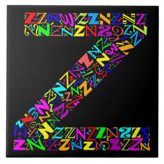 Azulejo La letra Z del alfabeto