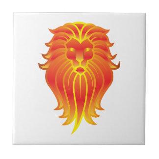 Azulejo León adaptable del zodiaco de Leo del fuego