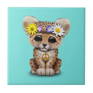Azulejo Leopardo lindo Cub del Hippie