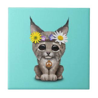 Azulejo Lince lindo Cub del Hippie