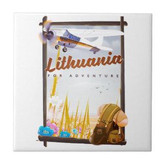 Azulejo Lituania - para un poster del viaje de la aventura