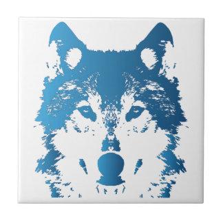 Azulejo Lobo de los azules claros del ilustracion