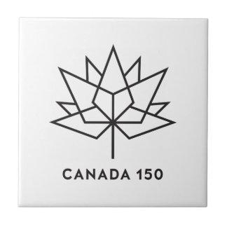 Azulejo Logotipo del funcionario de Canadá 150 - esquema
