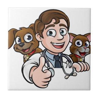 Azulejo Los pulgares del personaje de dibujos animados del