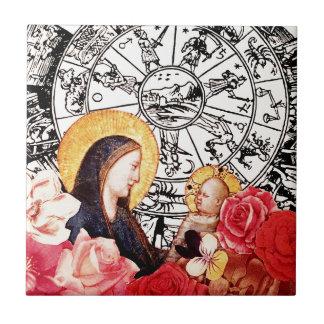 Azulejo madonna y niño