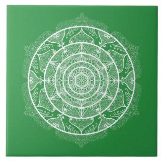 Azulejo Mandala de la alga marina