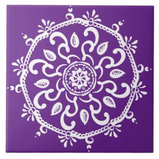 Azulejo Mandala de la berenjena