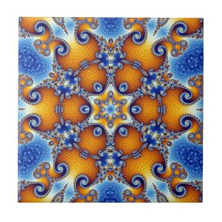 Azulejo Mandala de la vida del océano
