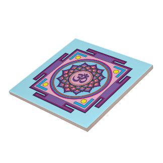 Azulejo Mandala de OM Shanti OM