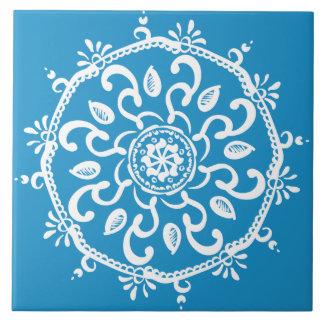 Azulejo Mandala del Bluebird