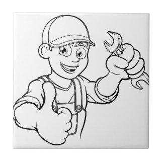 Azulejo Manitas del mecánico o del fontanero con el dibujo