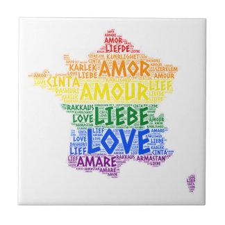 Azulejo Mapa de Francia del arco iris de LGBT ilustrado
